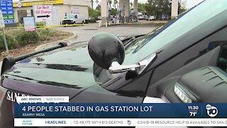 Police investigate stabbings at Kearny Mesa gas station