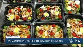 Woman raising money to buy, donate meals