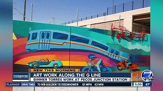 Art work along the G Line