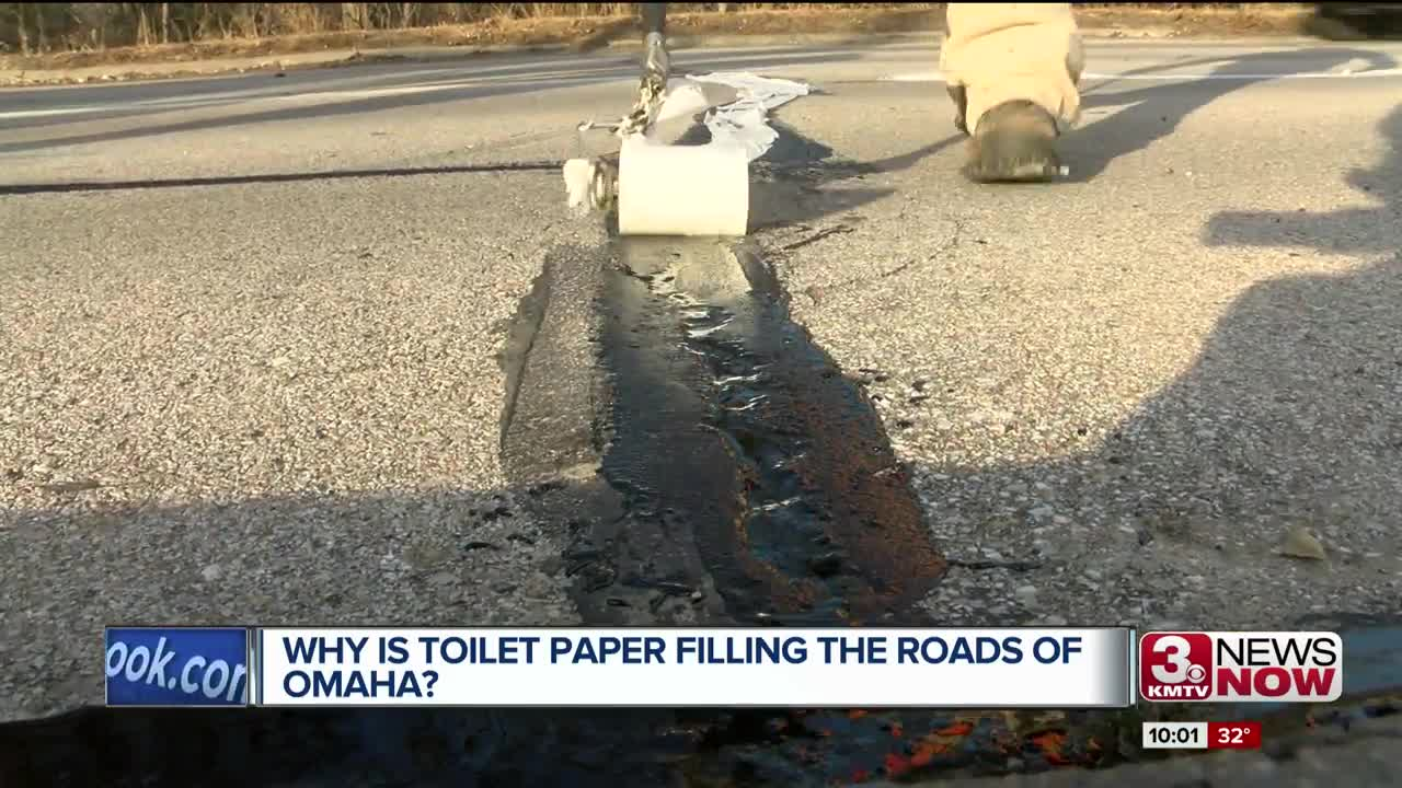 Why is toilet paper filling the streets of Omaha?