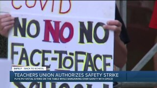 Teachers union authorizes safety strike that could halt in-person learning