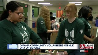 Omaha community volunteers at MLK Day of Service