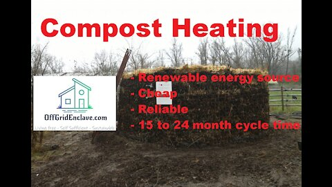 Compost Heating. Cheap, reliable and renewable energy source! Passive heating for OffGrid Life