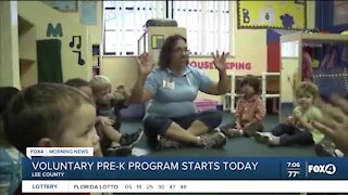 VPK classes begin Tuesday in Lee County