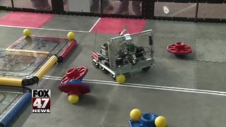 Robots battle in state championship
