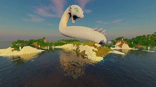 Minecraft Timelapse, Sea Snake Dragon Build Schematic