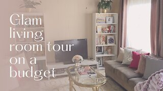 Glam living room on a budget!