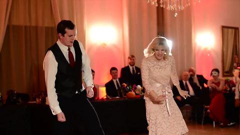 Groom And His Mom Dance To A Mashup At Wedding