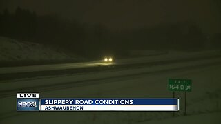 Slippery road conditions January 17th