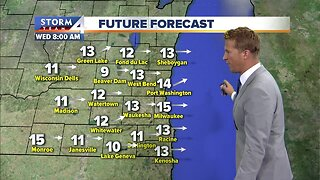Mostly sunny and windy Wednesday