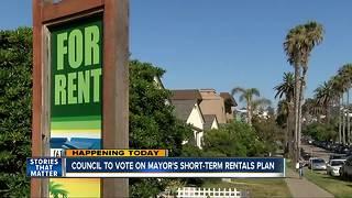 Possible vote on San Diego mayor's short-term rentals plan