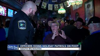 South Milwaukee Police officers patrol bars to ensure a safe New Year's Eve