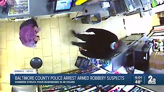 Baltimore County Police arrest armed robbery suspects