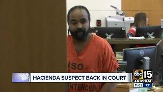 Hacienda sex assault suspect back in court Tuesday