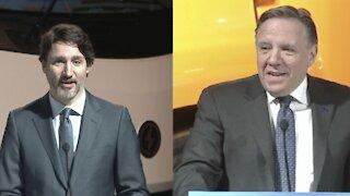 Justin Trudeau fait un lapsus et appelle François Legault « Le Gros » en direct (VIDÉO)