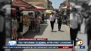 Sense of normalcy in Italy after strict lockdown
