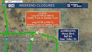 Weekend traffic restrictions on Valley freeways