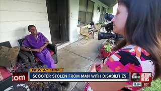 Clearwater man pleads for return of his stolen electric scooter