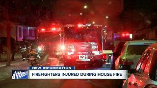 Firefighters injured during house fire