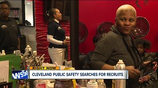 Cleveland public safety holds recruiting event at beauty salon