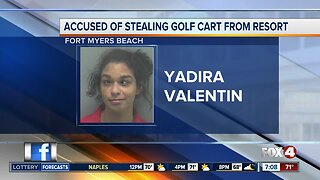Woman accused of stealing golf cart from Fort Myers Beach resort