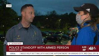 KCPD in a standoff with an armed gunman