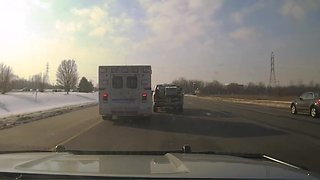 Dashcam of stolen ambulance police chase