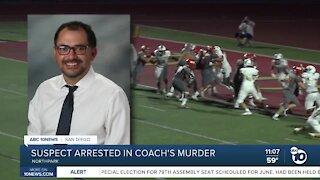 Suspect arrested in Coach Mario Fierro's murder