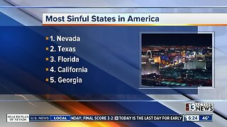 Nevada named most sinful state again