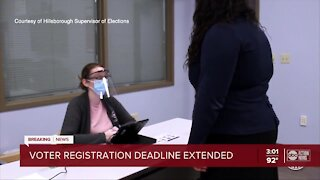 Florida voter registration deadline extended to 7 p.m. Tuesday