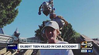 Gilbert teen killed in weekend car crash