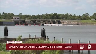 Army Corps discharging water from Lake Okeechobee into St. Lucie River