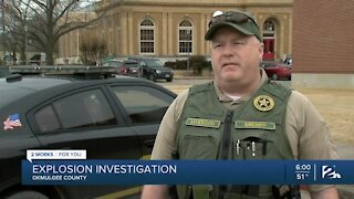 Explosion investigation in Okmulgee County