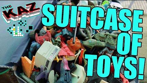 Suitcase Full Of Random Toy Parts