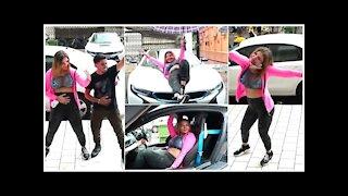Rakhi Sawant Enjoys Mumbai Rains While Striking Poses On A Car