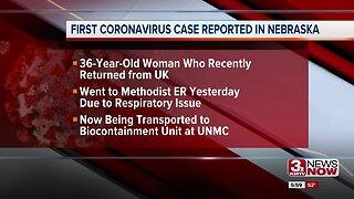 Douglas County woman is Nebraska's first positive case of coronavirus