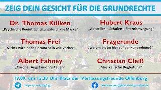 Zeig Dein Gesicht für die Grundrecht Offenburg 19.09.2020 Teil 6/7