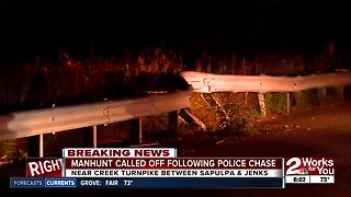 Police chase turns into a manhunt in Creek County