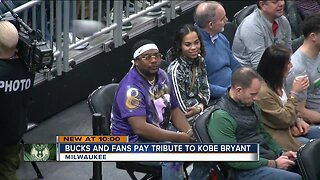 Milwaukee Bucks and fans pay tribute to Kobe Bryant