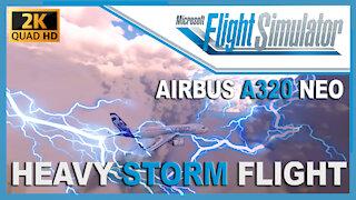 Microsoft Flight Simulator 2020 - Heavy Storm Flight and Dangerous Landing