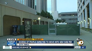 Dozens of women, children expected to move into temporary shelter