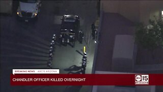 Police pay respects to fallen Chandler officer