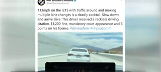 $1200 speeding ticket for going 112 MPH