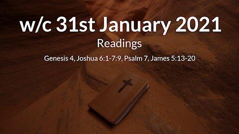 w/c 31st January 2021 Readings