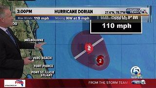 3 p.m. Tuesday Dorian update