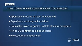 City of Cape Coral hiring camp counselors