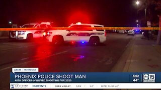 Man shot by Phoenix police near 27th and Glendale avenues