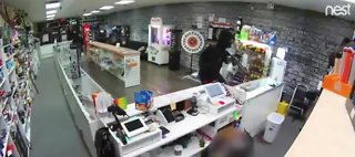 Violent armed robbery caught on camera