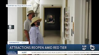 San Diego attractions reopen amid red tier
