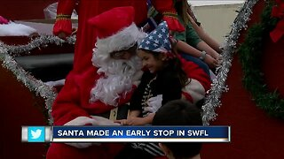 Santa makes an early stop in Southwest Florida.